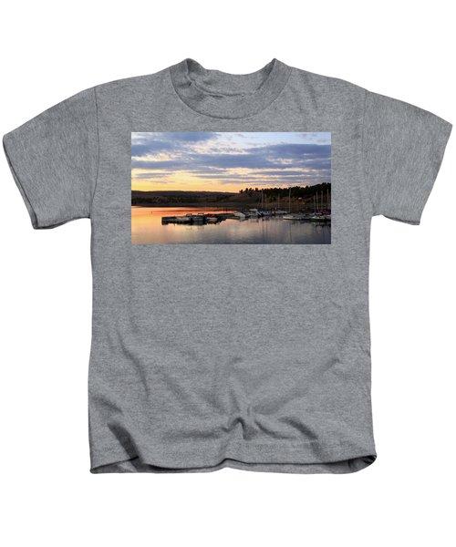 Sunset On The Lake Kids T-Shirt