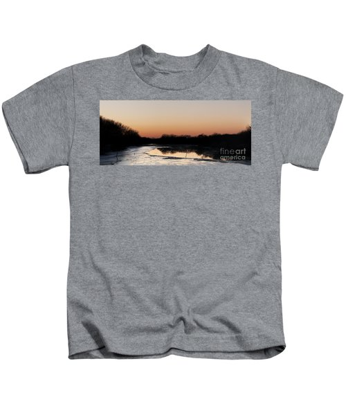 Sunset Over The Republican River Kids T-Shirt