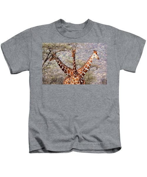 Three Headed Giraffe Kids T-Shirt