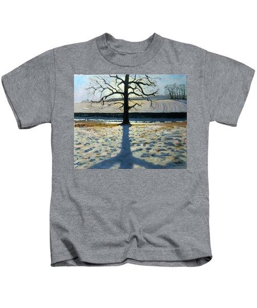 Tree And Shadow Calke Abbey Derbyshire Kids T-Shirt