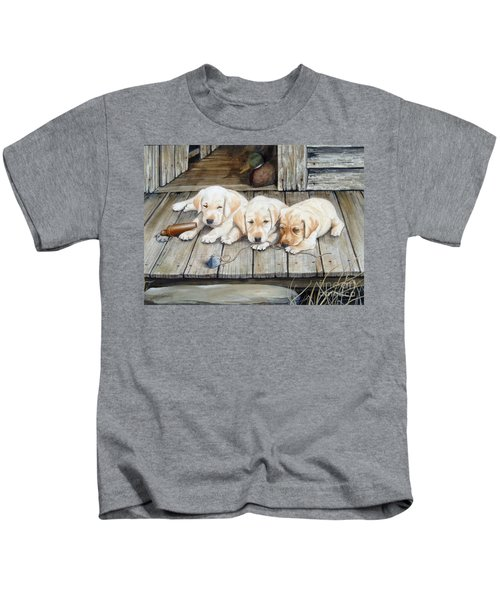 Tuckered Out Trio  Sold  Prints Available Kids T-Shirt