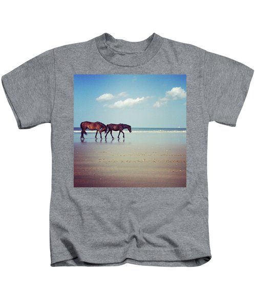 Well, This Just Happened. #wild #horses Kids T-Shirt