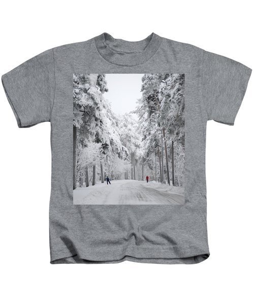 Winter Activities Kids T-Shirt
