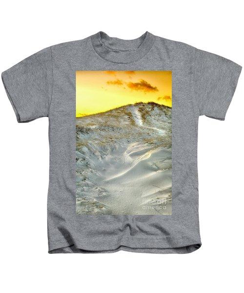 Winter Cape Cod Sunset Kids T-Shirt