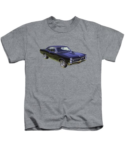 Black 1967 Pontiac Gto Muscle Car Kids T-Shirt