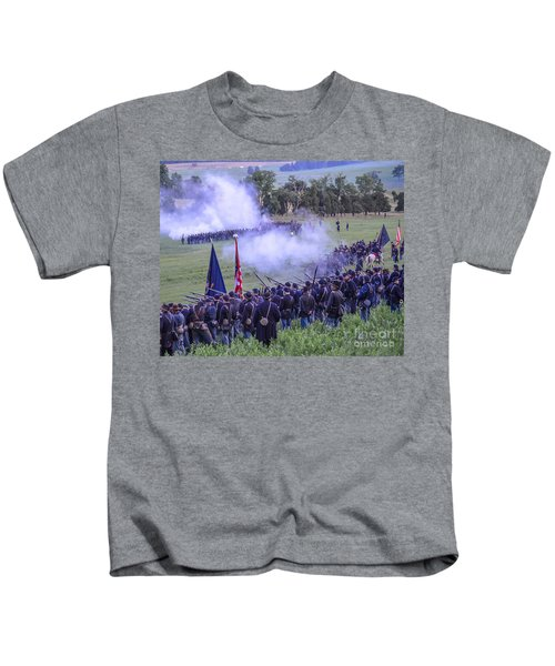 Gettysburg Union Artillery And Infantry 7496c Kids T-Shirt