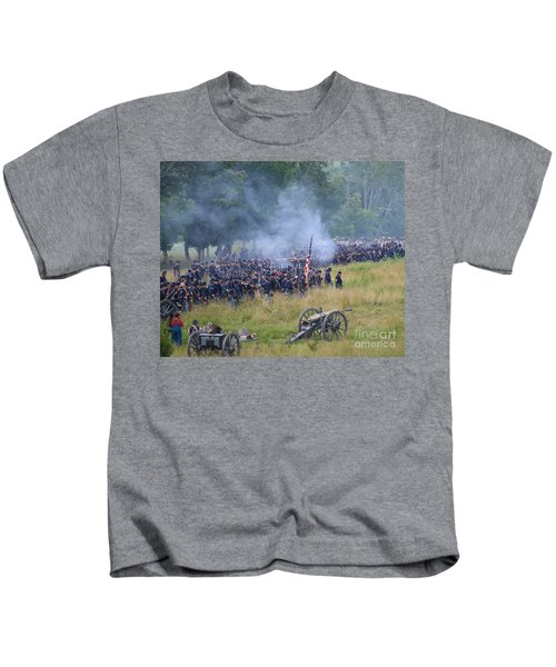 Gettysburg Union Artillery And Infantry 8456c Kids T-Shirt