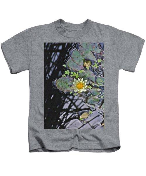 September White Water Lily Kids T-Shirt