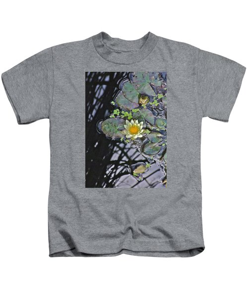 September White Water Lily Kids T-Shirt