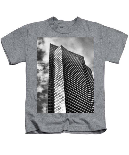 Waves Of Gray Kids T-Shirt