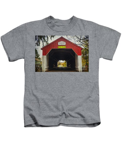 Uhlerstown Covered Bridge Iv Kids T-Shirt
