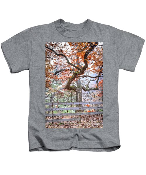 0981 Fall Colors At Starved Rock State Park Kids T-Shirt