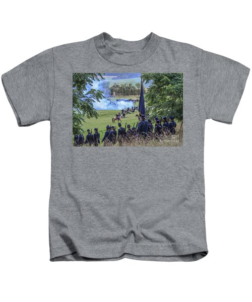 Gettysburg Union Artillery And Infantry 7457c Kids T-Shirt