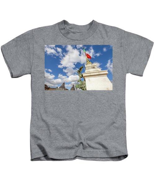Altare Della Patria Roma Kids T-Shirt