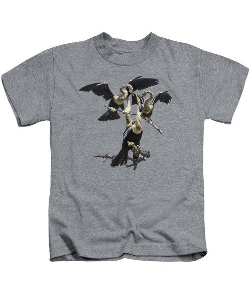 Anhinga Feeding Time Transparency Kids T-Shirt