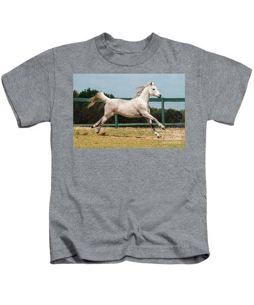 Arabian Horse Running Kids T-Shirt