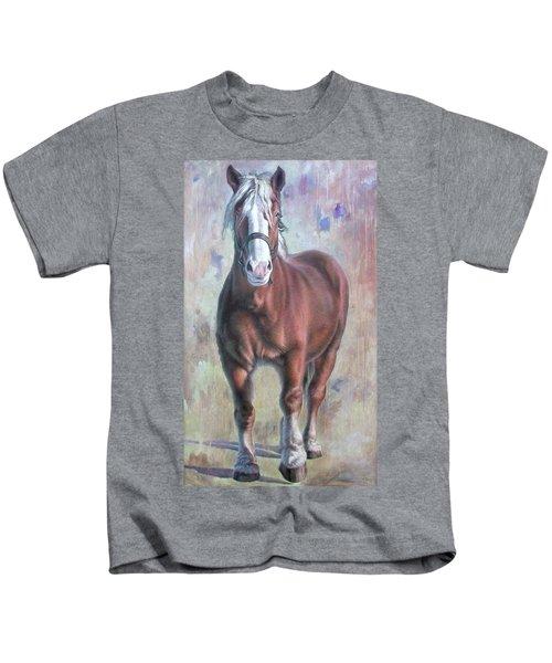 Arthur The Belgian Horse Kids T-Shirt