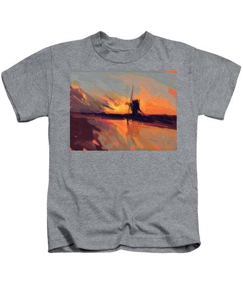 Autumn Indian Summer Windmill Holland Kids T-Shirt