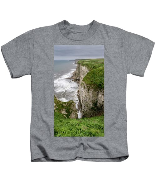 Bempton Cliffs Kids T-Shirt by Nigel Wooding