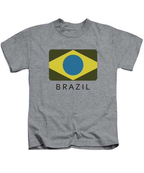 Brazil Flag Kids T-Shirt