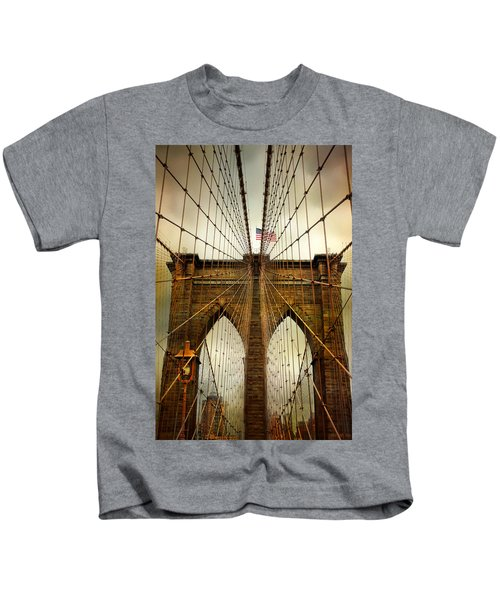 Brooklyn Bridge Twilight Kids T-Shirt