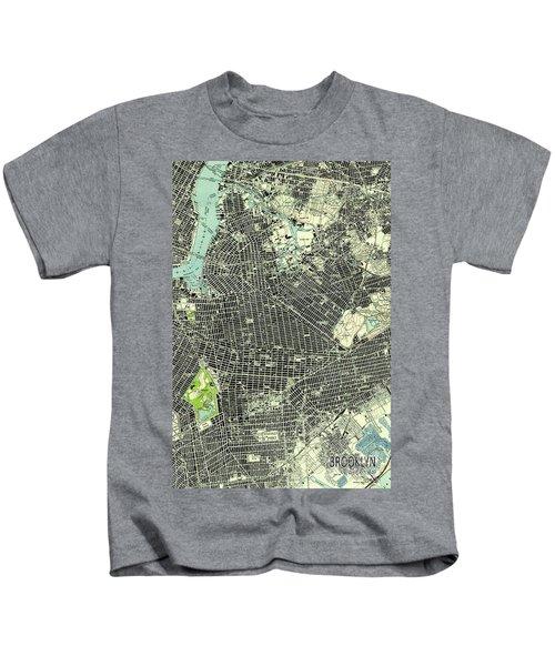 Brooklyn New York 1947 Old Map Kids T-Shirt