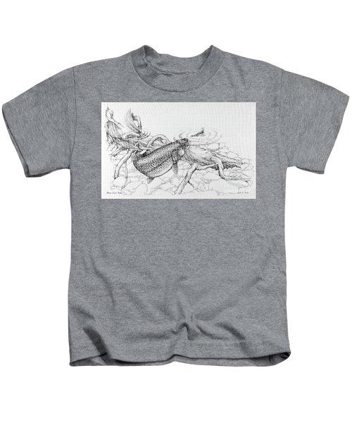 Brown Trout Pencil Study Kids T-Shirt