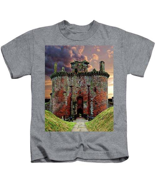 Caerlaverock Castle Kids T-Shirt