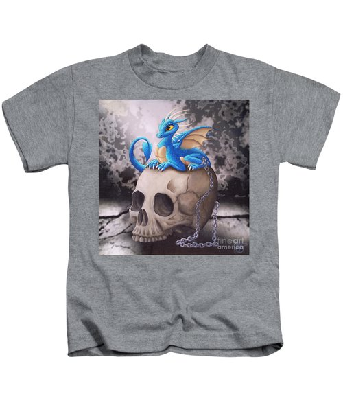 Captive Dragon On An Old Skull Kids T-Shirt