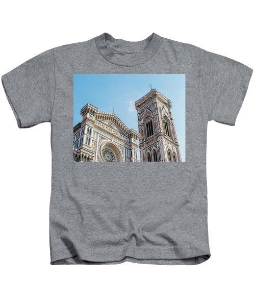 Cattedrale Di Santa Maria Del Fiore Is The Main Church Of Floren Kids T-Shirt