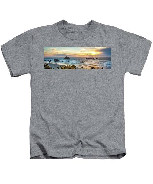 Face Rock At Sunset Kids T-Shirt