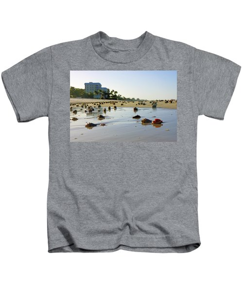 Fighting Conchs On The Beach In Naples, Fl Kids T-Shirt