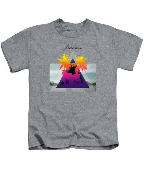 Freedom  Kids T-Shirt by Mark Ashkenazi