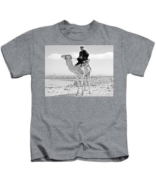 Giza Pyramids Camel Tourist Police Kids T-Shirt
