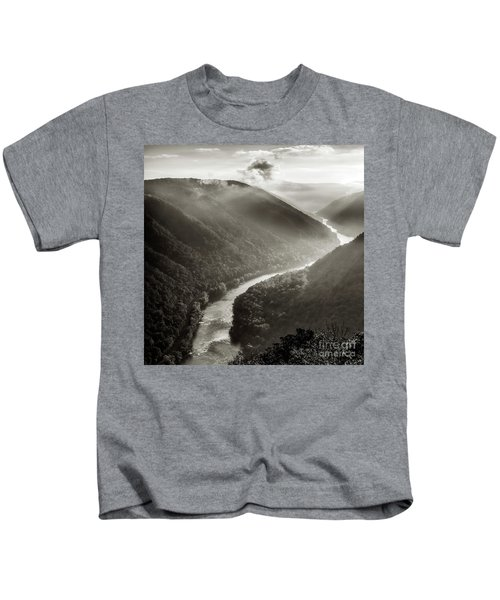 Grandview In Black And White Kids T-Shirt