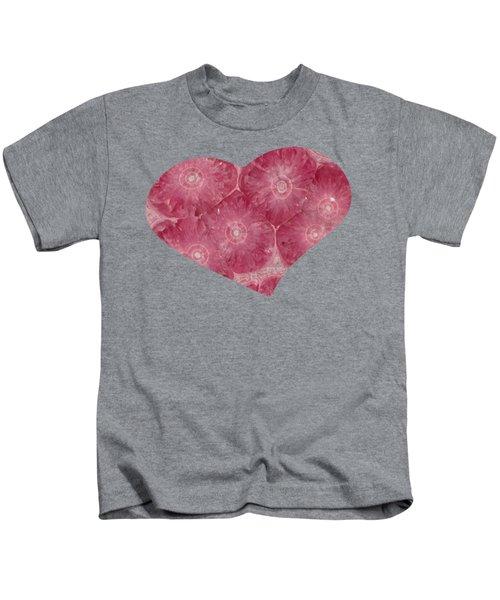 Heart Shape Stone Art Kids T-Shirt