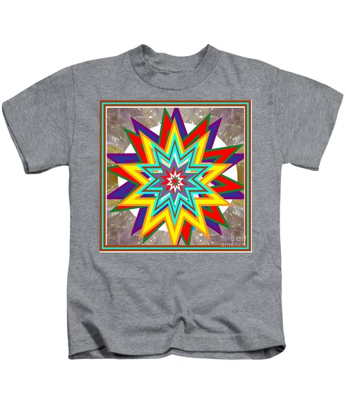 Holy Star White Purple Blue On Crystal Stone Marble Unique Shades Tones Textures Buy Wall Decoration Kids T-Shirt