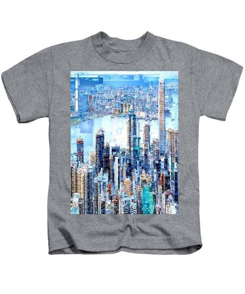 Hong Kong Skyline Kids T-Shirt