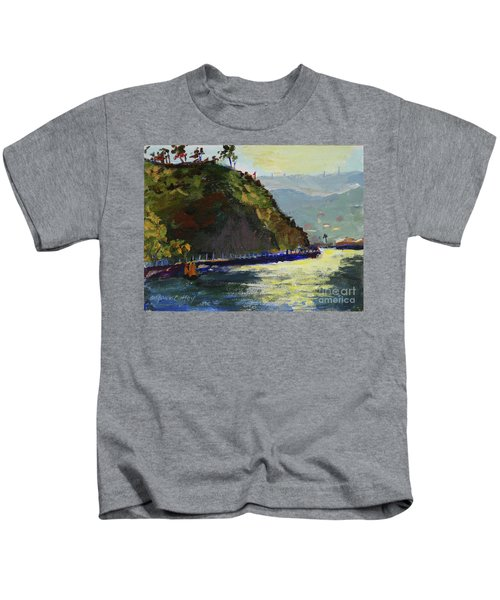 Late Afternoon At The Bay Kids T-Shirt