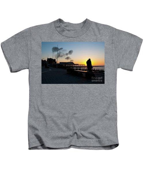 Love Birds At Sunset Kids T-Shirt