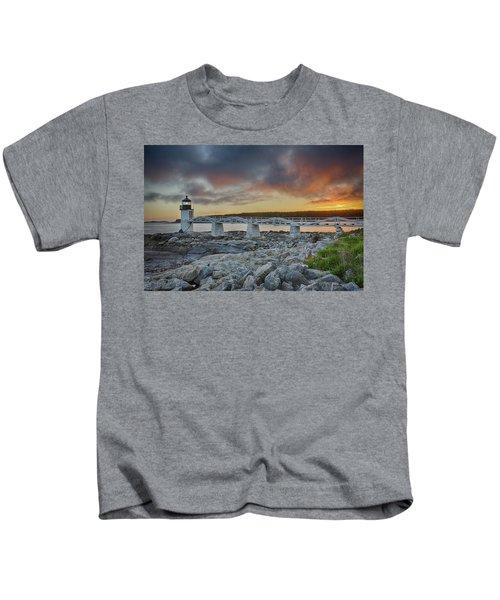 Marshall Point Lighthouse At Sunset, Maine, Usa Kids T-Shirt