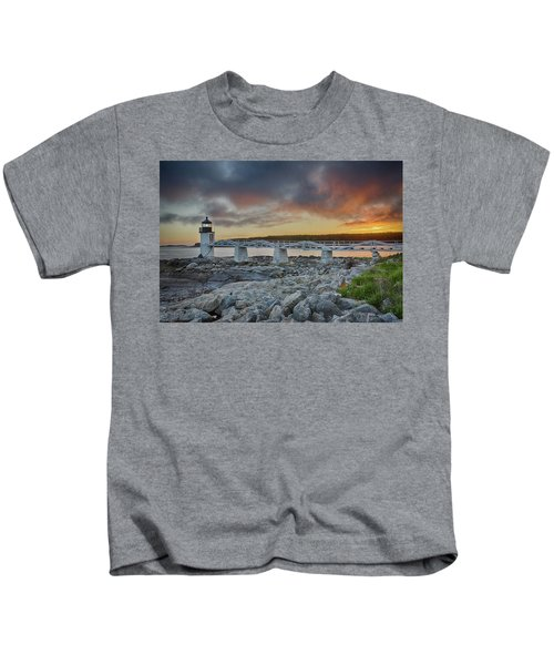 Marshall Point Lighthouse At Sunset, Maine, Usa Kids T-Shirt