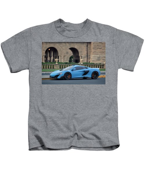 #mclaren #675lt With #pirelli #tires Kids T-Shirt