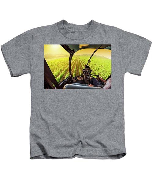 Napa Valley Scenic Flight Kids T-Shirt