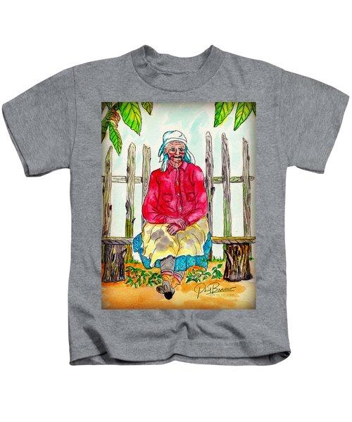 Old Migrant Worker, Resting, Arcadia, Florida 1975 Kids T-Shirt