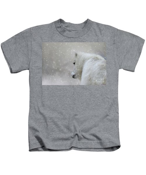 On A Cold Winter Day Kids T-Shirt