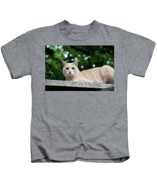 Orange Tabby Kids T-Shirt