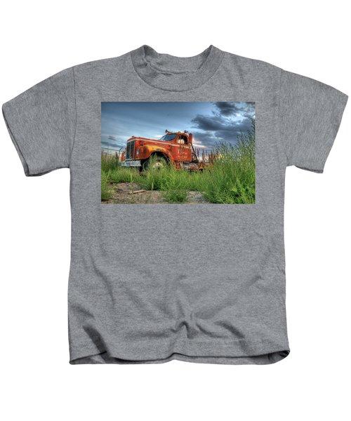 Orange Truck Kids T-Shirt