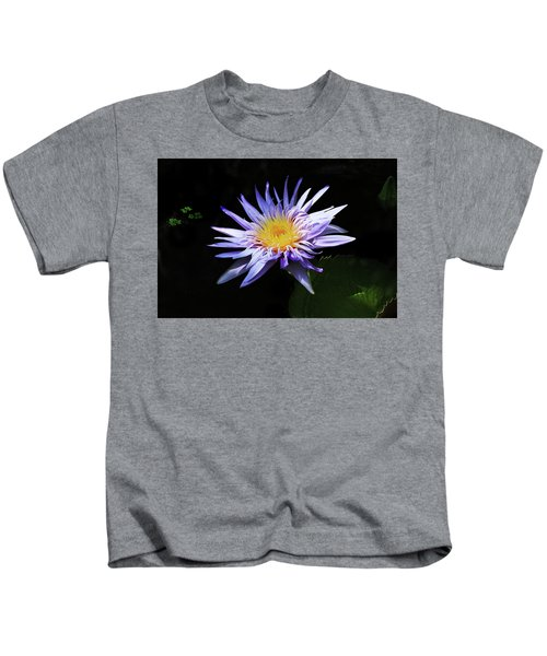 Purple Water Lily Kids T-Shirt