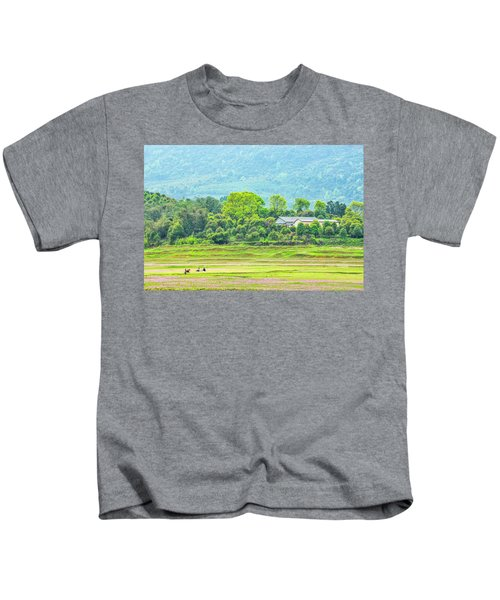 Rural Scenery In Spring Kids T-Shirt